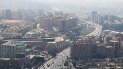 Vue des quartiers du Caire