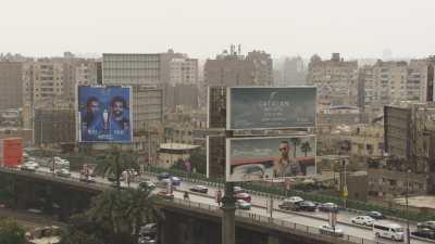 Voie express et quartier nord de la gare Ramses