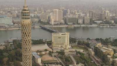 Place Tahrir, immeuble de la Mogamma, environs, le Nil