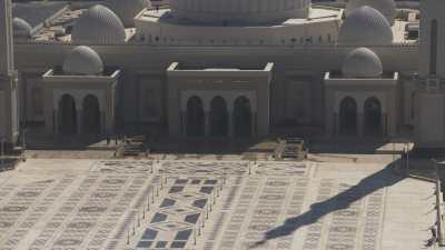 Le chantier de la Nouvelle Capitale, la mosquée al-Fattah al-Aleem