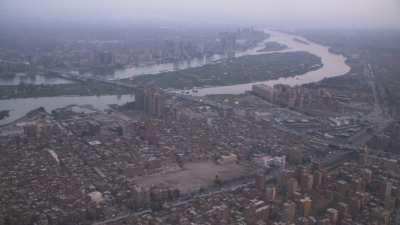 Le soir au dessus du Nil au centre-ville