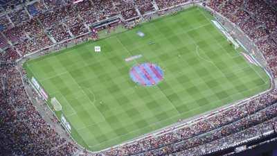 début de match au stade Camp Nou