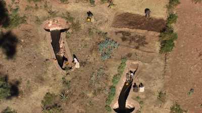 Paysans, cultures et irrigation des champs, Tigray