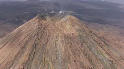 Paysage environnant d'une chaîne de volcans