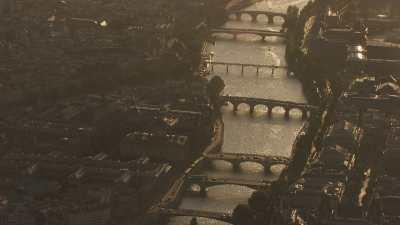 Lumières du soir et reflets sur la Seine
