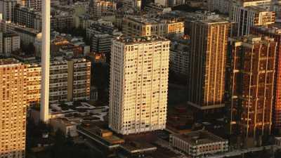 Tour Montparnasse et immeubles du front de Seine