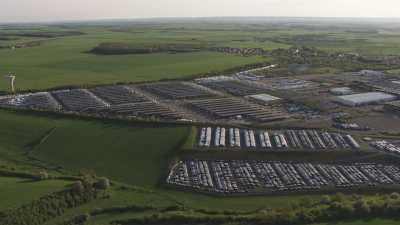 Toit solaire sur le parking de l'usine Renault,Sovab de Batilly