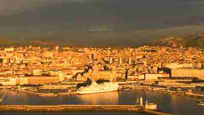 La ville au coucher du soleil, le MUCEM