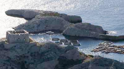 La côte rocheuse, les ports de plaisance