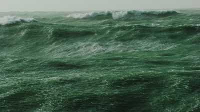 Fortes vagues en mer