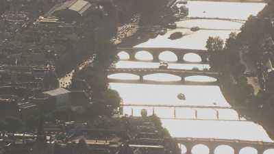 La Seine et les îles en contrejour