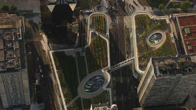 Le Centre commercial Beaugrenelle, les Jardins Partagés sur toit