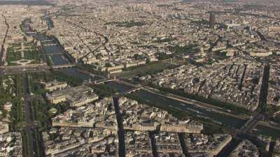 Plans très larges du centre ville