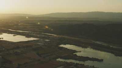 Soleil couchant sur la Provence