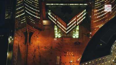 Paris La Défense la nuit, de Nanterre au secteur Arche Sud