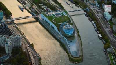 Boulogne-Billancourt: La Seine Musicale et l'île Seguin / La Seine