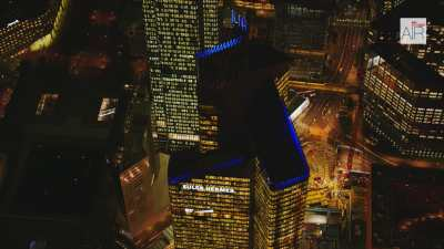 La Défense la nuit, paysage depuis Neuilly + Topshots