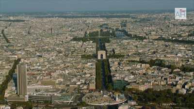 Paris La Défense avec l'Axe Historique  depuis Nanterre jusqu'à Paris