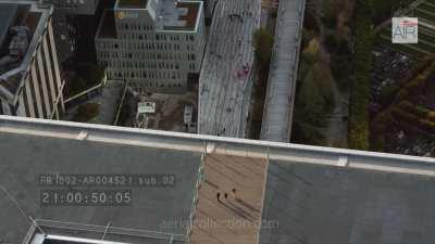 Le quartier de la Défense, plans serrés sur les tours de bureaux