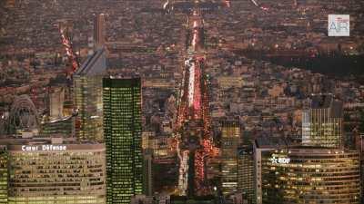 Paris La Défense et l'Axe Historique, le soir