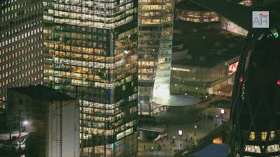 Paris La Défense de nuit