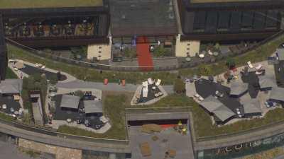Le quartier de la Défense avec l'esplanade
