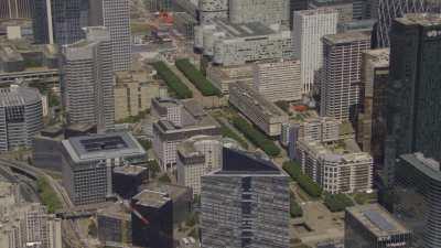 Le quartier de la Défense secteur Esplanade Nord et Esplanade Sud