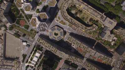 Topshots sur le quartier du Trapèze et du Pont de Sèvres à Boulogne-Billancourt