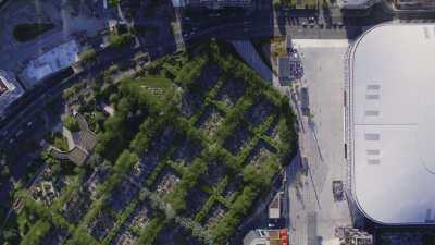 Topshots sur le quartier de Paris la Défense et l'Axe Historique de Puteaux jusqu'à Nanterre