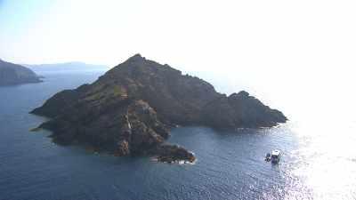 Survol de l'île de Port-Cros