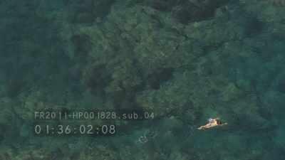 Flying over Port-Cros island