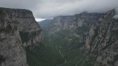 Plan large des Gorges de Vikos