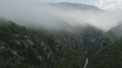 Plan large des Gorges de Vikos