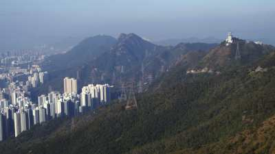 Plans larges de Hong Kong depuis Kowloon Peak