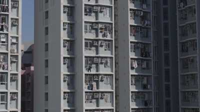 Immeubles blancs à Hong Kong