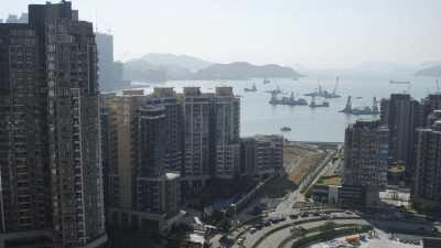 Immeubles et baie de Kowloon