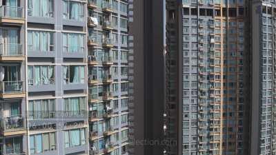 Immeubles bleus près de Kowloon