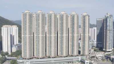 Immeubles dans la baie à Kowloon