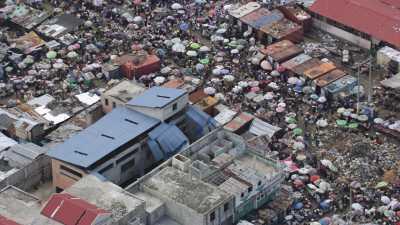 L'immense marché de fer de la ville