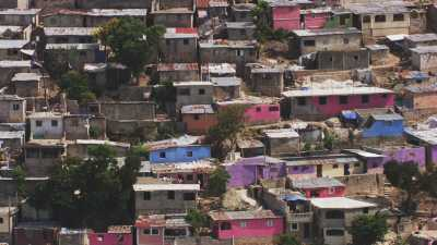 Les maisons colorées du Bidonville Jalousie