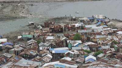 Quartier Cité Soleil,maisons de tôle
