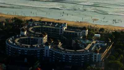 Paysage urbain et  plage