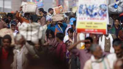 La foule de la Kumbha Mela