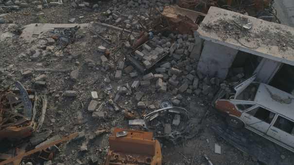 La vieille ville de Mossoul détruite par la guerre en 2017
