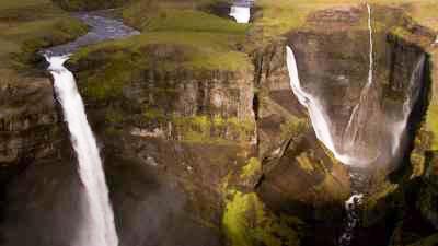 Cascades Gullfoss et Halfoss