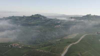 Vignes dans les brumes en Ligurie