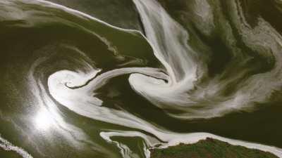 Graphismes magiques du lac Magadi