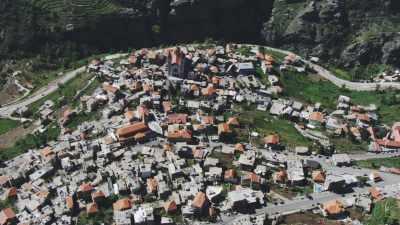 Vallée et cultures en terrasse