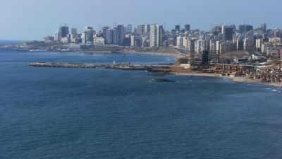 La ville et le front de mer