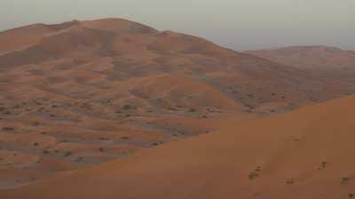 Lever de soleil sur les dunes de Merzouga